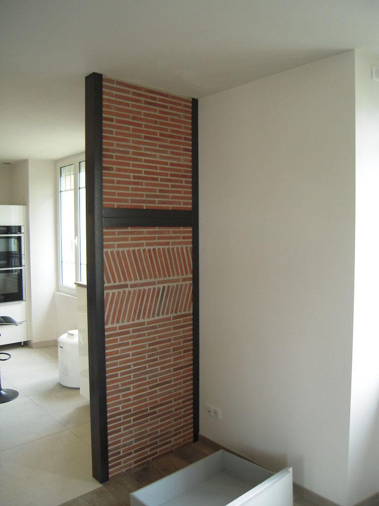 Cloison de brique - Colombage