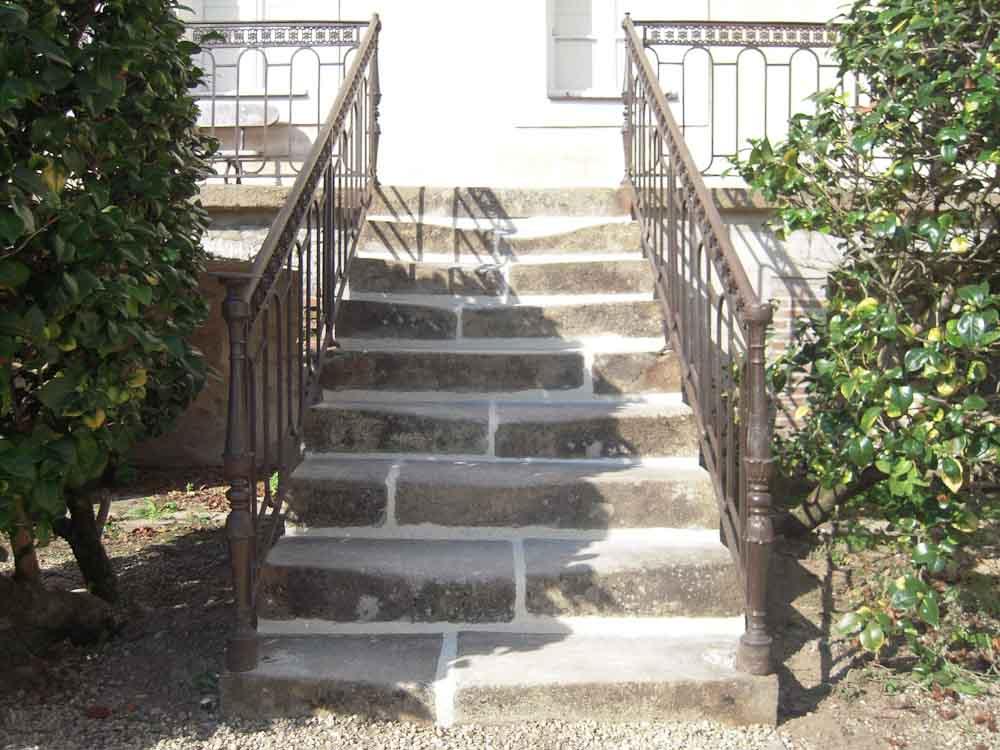 Rénovation escalier extérieur