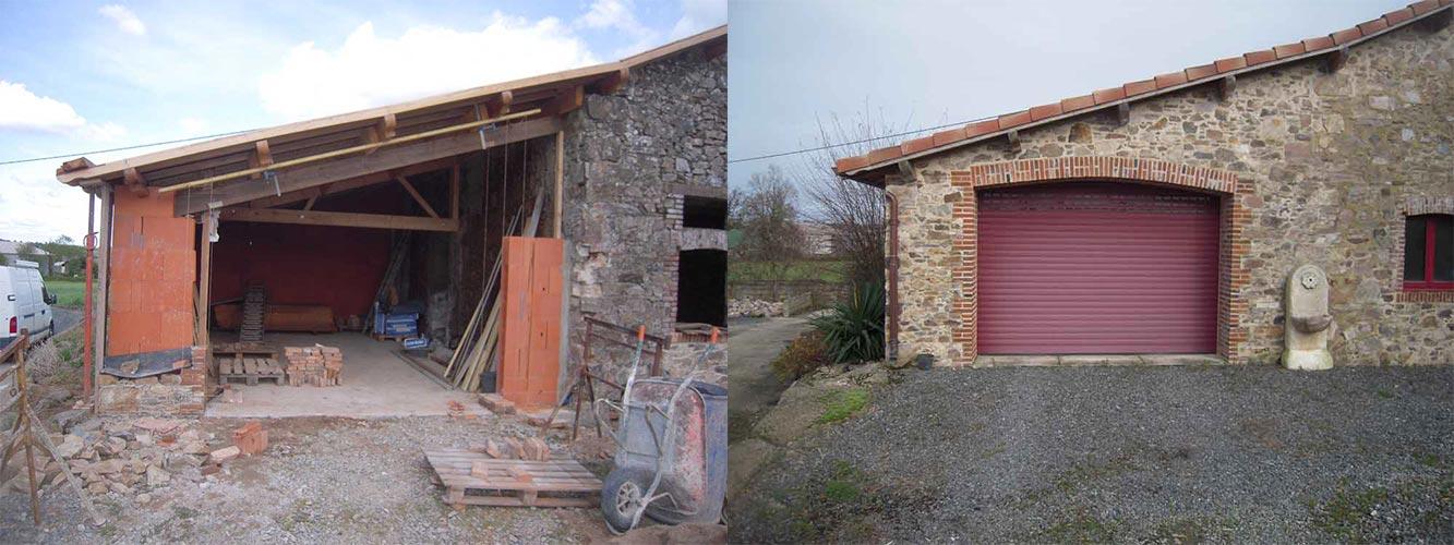 Rénovation d'un garage - Avant Après